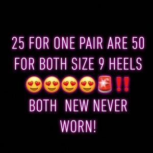 Women Heels Size 9